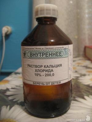 раствор хлорида кальция